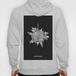 Moscow, Russia Black and White Skyround / Skyline Watercolor Painting (Inverted Version) Hoody
