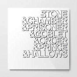 Harry Potter Ampersand [White] Metal Print