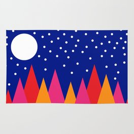 Moonlit Christmas Trees Rug