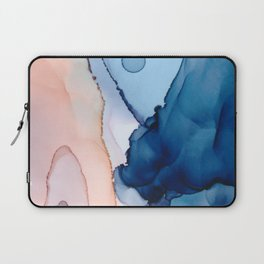 Saphire soft abstract watercolor fluid ink painting Laptop Sleeve