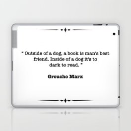 Groucho Marx Quote Laptop & iPad Skin