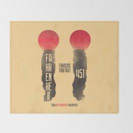 Fahrenheit 451, François Truffaut, french movie, british film, Ray Bradbury,  dystopian novel, book Throw Blanket