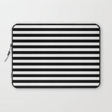 Modern Black White Stripes Monochrome Pattern Laptop Sleeve