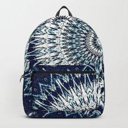 Indigo Navy White Mandala Design Backpack