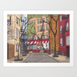 New York Stroll Art Print