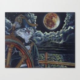 Sea Captain Cat Canvas Print