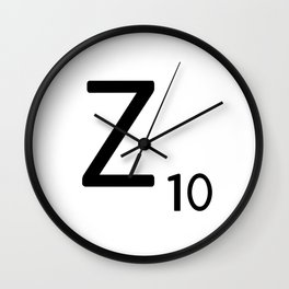 Letter Z - Custom Scrabble Letter Tile Art - Scrabble Z Initial Wall Clock