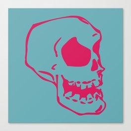 Pink Skull Canvas Print