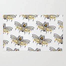 Death's Head Hawkmoth – Yellow & Black Palette Rug