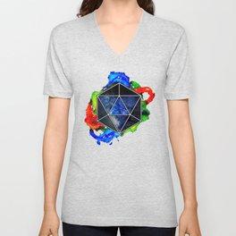 d20 Icosahedron of Imagination Unisex V-Neck