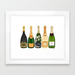 Champagne Bottles Framed Art Print