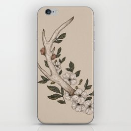 Floral Antler iPhone Skin