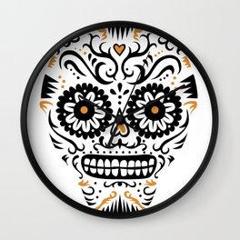 Sugar Skull SF - white Wall Clock
