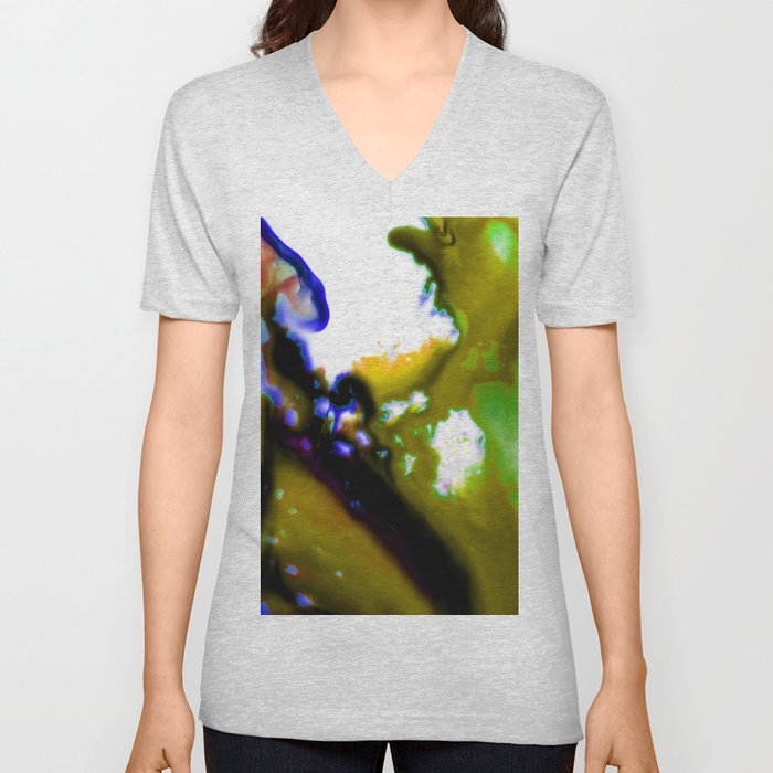 Abstract Bliss 3C by Kathy Morton Stanion Unisex V-Neck