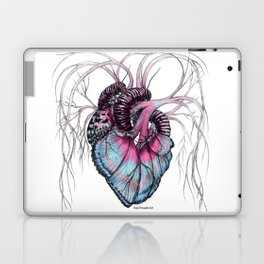 Butterfly Heart Blue Laptop & iPad Skin