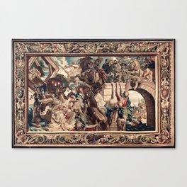 Triumph of Constantine over Maxentius at the Battle of the Milvian Bridge Canvas Print