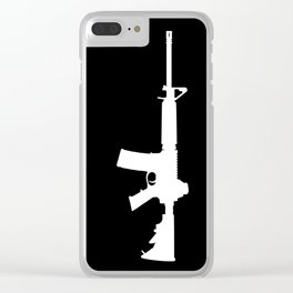 AR-15 (on black) Clear iPhone Case