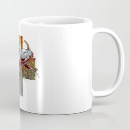 Rhinoceros beetle on the cross Coffee Mug