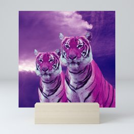 Purple Tiger Mini Art Print