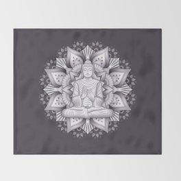 Black Mandala Throw Blanket