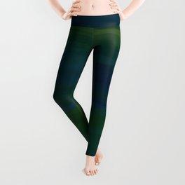 Navy, Peacock Green Abstract Leggings