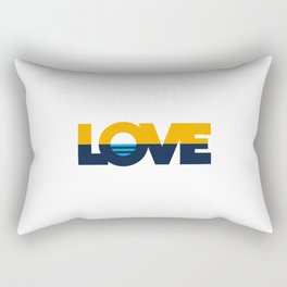 LOVE - People's Flag of Milwaukee Rectangular Pillow