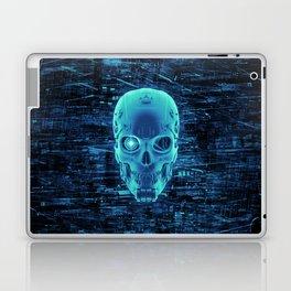 Gamer Skull BLUE TECH / 3D render of cyborg head Laptop & iPad Skin