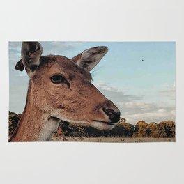 Deer portrait Rug