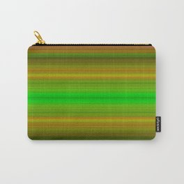 Bright Lined Green Orange Yellow Purple Colors Carry-All Pouch