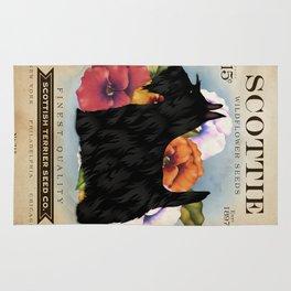 Scottie Seed Packet Artwork by Stephen Fowler Rug