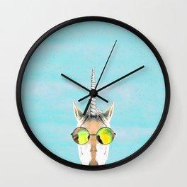 Unicorn in a Pool Wall Clock