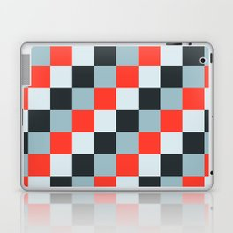 Stainless steel knife - Pixel patten in light gray , light blue and red Laptop & iPad Skin