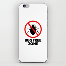 Bug free zone iPhone Skin