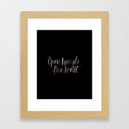 Open Hands, Free Heart Framed Art Print