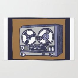 Vintage Tape Recorder Rug