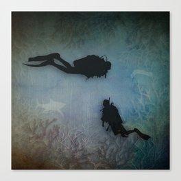 Scuba Divers Canvas Print