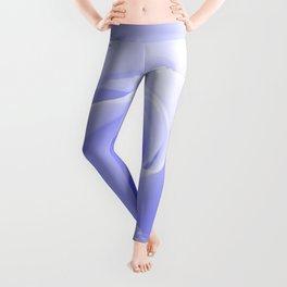 Periwinkle Blue Rose Leggings