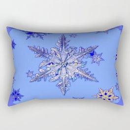 """""""BLUE SNOW ON SNOW"""" BLUE WINTER ART Rectangular Pillow"""