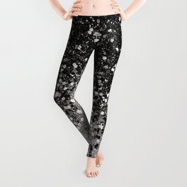 Silver Gray Glitter #1 #shiny #decor #art #society6 Leggings