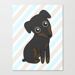 Rylee the Min Pin Canvas Print