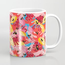 Beautiful illustration of a jungle with the frogs Coffee Mug