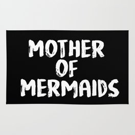 Mother of Mermaids (White on Dark Bkgrnd) Rug