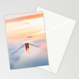 Golden Gate Bridge at Sunrise from Hawk Hill - San Francisco, California Stationery Cards