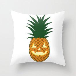 Carved Pineapple Hawaiian Halloween Throw Pillow