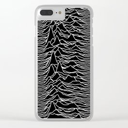 Joy Division - Unknown Pleasures Clear iPhone Case