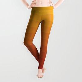 Gradient, Yellow Red Leggings