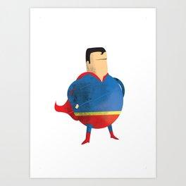 Fat Superman Art Print