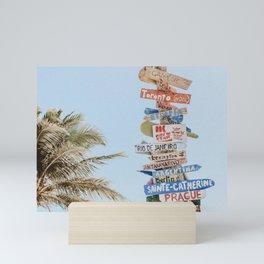 summer wanderlust Mini Art Print
