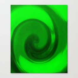 Green tie dye Canvas Print