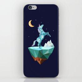 unicorn in the universe iPhone Skin